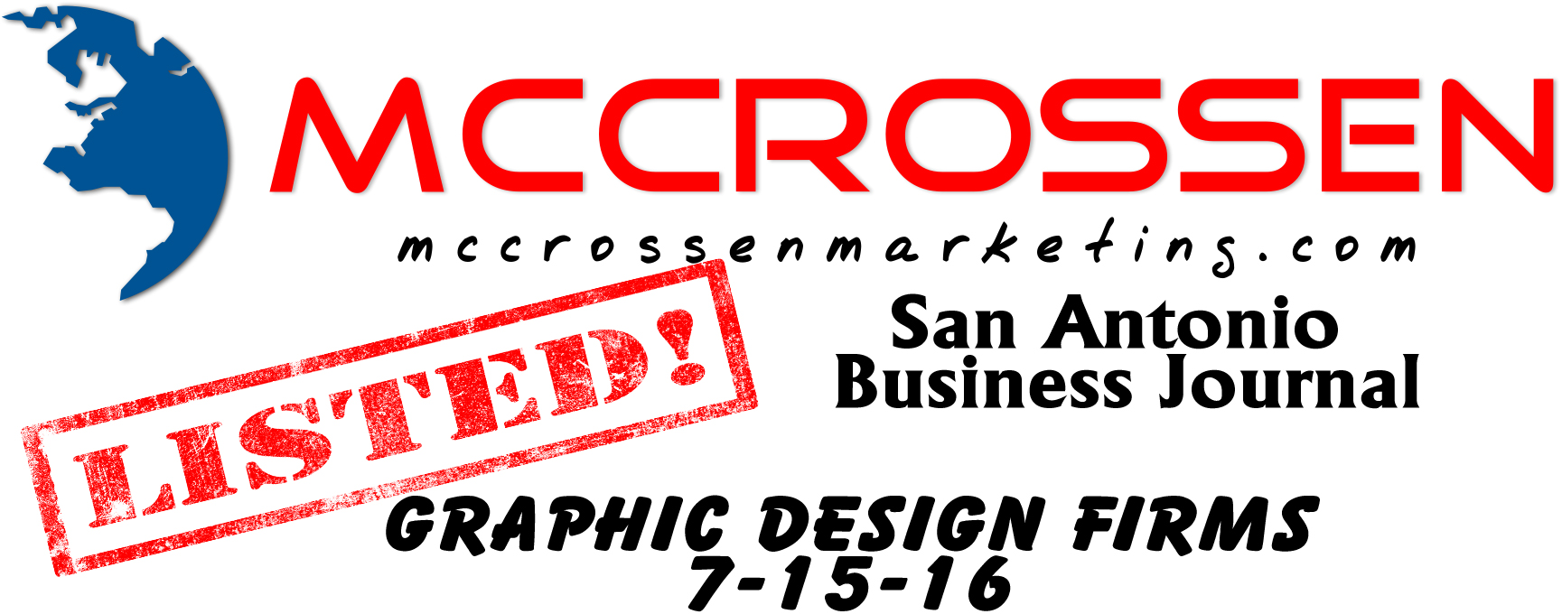 San Antonio Business Journal Graphic Design Firms List July 2016