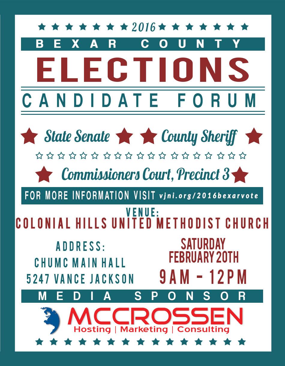 McCrossen marketing 2016 bexar county elections forum