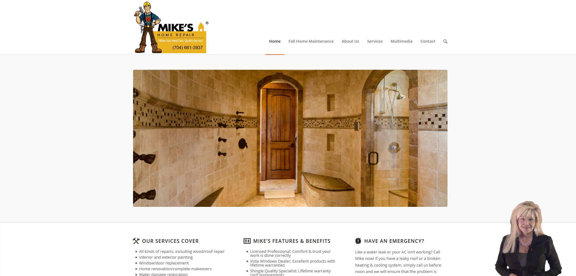 mccrossen marketing client mikes home repairs home page