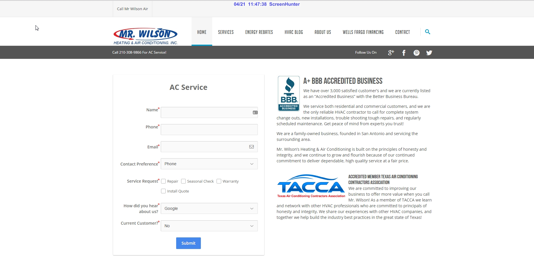 mccrossen marketing mr wilson air conditioning home page