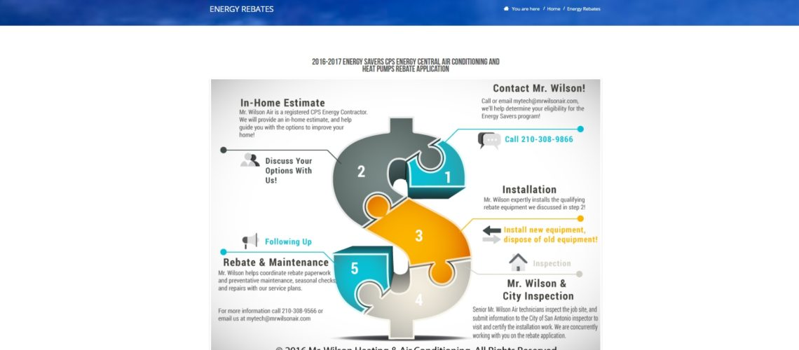 Mr Wilson Air Conditioning & Heating Website