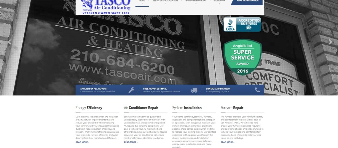 TASCO Air Conditioning Website