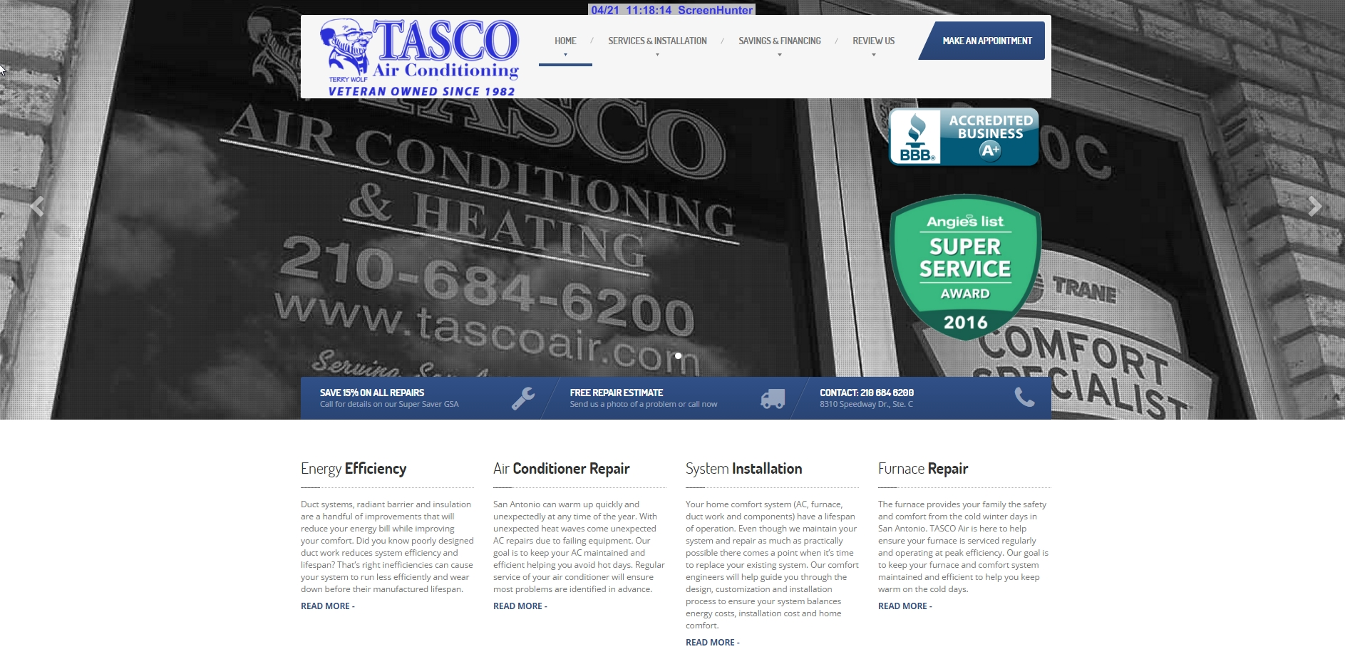 mccrossen marketing tasco air website homepage