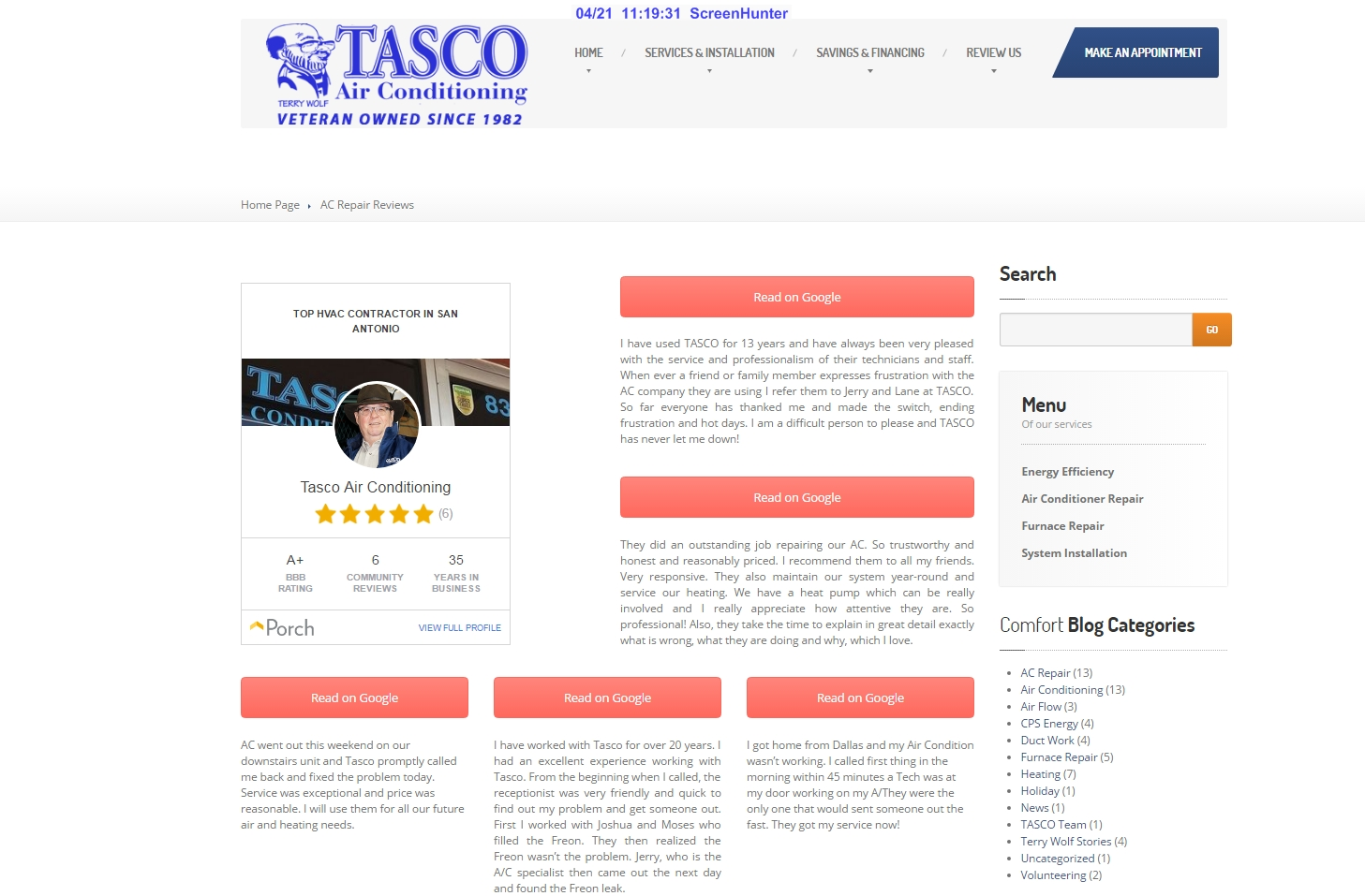 mccrossen marketing tasco air website reviews